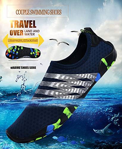 SailorMJY Scarpe da Scoglio da Spiaggia d'Acqua, Scarpe da Mare Spiaggia da Corsa,Scarpe da Ginnastica Fitness per Il Nuoto All'aperto, Asciugatura Rapida