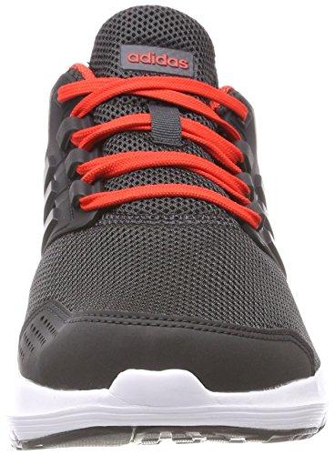 Adidas Mens Galaxy 4 Scarpe Da Corsa Grigio (carbonio S18 / Carbonio S18 / Hi-res Rosso S18)