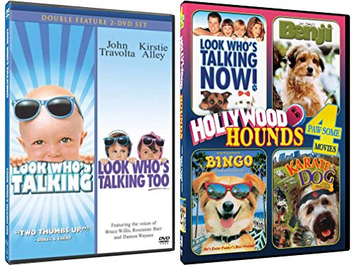 Look Who's Talking 1-3: Complete Movie Series DVD Collection with 3 Bonus Movies
