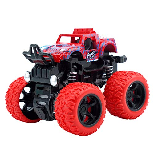 REFURBISHHOUSE 4Wd Tr?gheit Drehbares Auto Spielzeug Reibungs Kraft Vier R?dern Querfeldeln Wagen Diecast Modell Inertial Auto Spielzeug -