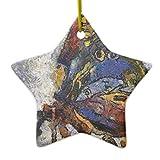 Rutehiy Ornamente für Weihnachtsbaum Frida Kahlo Schmetterling Monet Inspiriert Ornament Star DEKO Ornament, Zum Aufhängen Xmas Geschenk