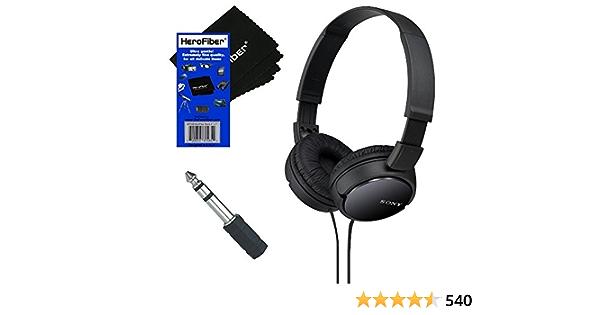 Sony Mdrzx110 Zx Series Stereo Kopfhörer Schwarz Mit 3 5 Mm Mini Stecker Auf 6 3