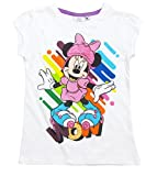 Minnie Mouse T-Shirt Shirt 92 98 104 110 116 122 128 Mädchen Kurzarmshirt Maus Kollektion 2017 Weiß (116-122, Weiß)