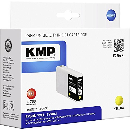 Preisvergleich Produktbild KMP e220yx 20ml 2700Seiten Gelb Tintenpatrone–Tintenpatronen (Epson, gelb, Workforce Pro wf-5620dwf/wf-5690dwf/wf-5110ddw/wf-5190dw/wf-4640/wf-4630, 20ml, 2700Seiten)