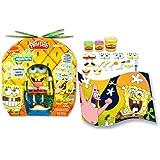 Rare Official Nickelodeon Hasbro SpongeBob Squarepants Mix & Match Play-Doh Kids Fun Art Set Toy