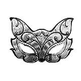 T-KMMK Maske Spitze Tanzparty Cosplay Halbes Gesicht SexyHalloween Maskerade Maske Mann Requisiten Terror Teufel Maske, KB2