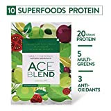Ace Blend Protein & Superfood Nourisher (Plant-Based) - Green Lime Pack of 15