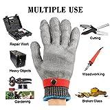 Schnittschutzhandschuhe, GOCHANGE Lebensmittelecht Schnittfeste Handschuhe, Sicherheit aus Edelstahl Metallgewebe Handschuh - 3