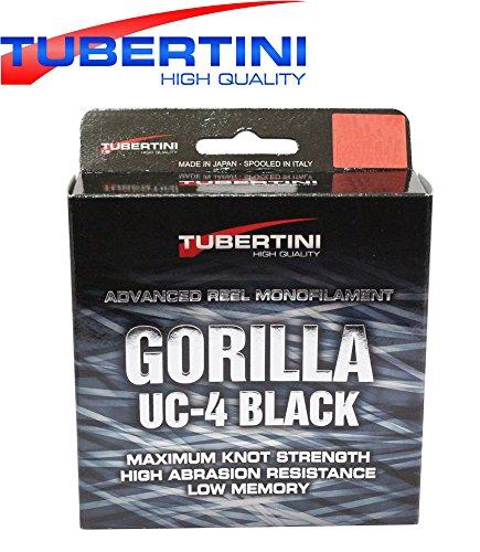 Tubertini UC 4 Gorilla Schnur 350m - Monofile Angelschnur zum Forellenangeln, Monoschnur zum Angeln auf Forelle, Forellenschnur, Durchmesser/Tragkraft:0.16mm / 3.40kg Tragkraft