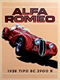 ALFA ROMEO 1938 CAR SIGN RETRO METAL TIN WALL PLAQUE SIGN NOVELTY GIFT