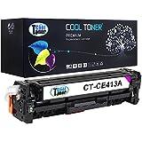 Cool Toner Compatible de Toner CE413A 2600 Page para HP LaserJet Pro 300 Color M351a MFP M375nw HP LaserJet Pro 400 Color M451 series MFP M475 series, Magenta, 1-Pack,ce413a