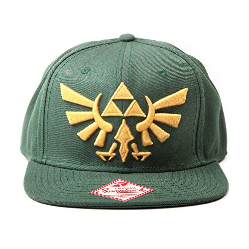 Price comparison product image Zelda Nintendo Snapback Cap with Gold Triforce Logo (Green)