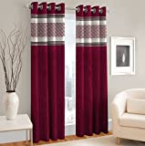 #6: PVR Fashion Silhouette Collection - Digital Printed Curtain Set of 2 (Size - Window 46 X 60 inch/Color - Multicolor-RED-Maroon