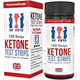 150 Ketone Urine Test Strips - UK Supplier - Test Ketosis Levels for Keto - Paleo - Low Carb - Diabetic - 99.9% Accurate Results - Lose Weight Feel Healthy with Confidence, Free Keto EBOOK EMAILED