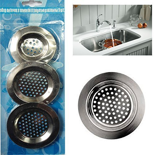 3-x-sink-strainer-bath-basin-plughole-filter-kitchen-metal-strainers-by-grids-london