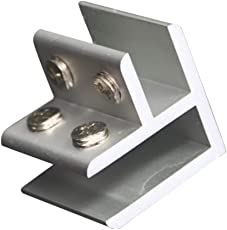 MagiDeal Aluminiumlegierung Glashalter Klemmhalter Glasklemme Geländer eckig - 1
