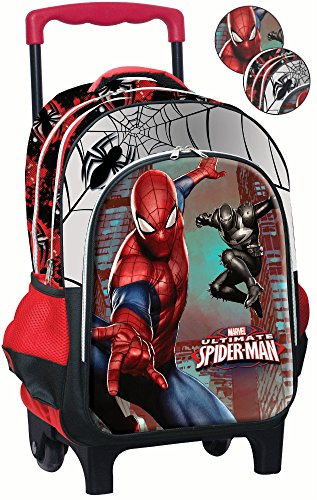 GIM spiderman Cartable, 45 cm, 25 litres, Rouge