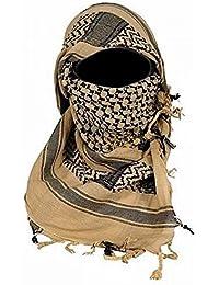 Mil-Tec Ejército de Shemagh militar táctica de la bufanda de la patrulla de combate Shermag Keffiyeh [110 cm x 110 cm] [Follaje verde]