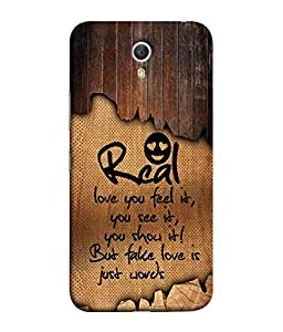 Lenovo ZUK Z1 Back Cover Real Love You Feel It You See It You Show It Design From FUSON
