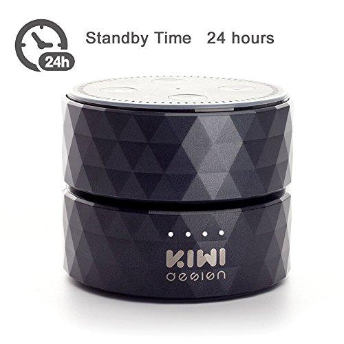 Akku für Dot 2nd Generation,10000mAh Dot Akku, Batteriebasis für Dot Zubehör und Android Geräte von KIWI Design (Schwarz)