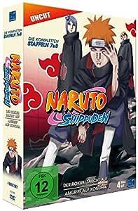 Naruto Shippuden, Staffel 7 & 8: Der Rokubi taucht auf / Angriff auf Konoha (Episoden 364-395, uncut) [4 DVDs]