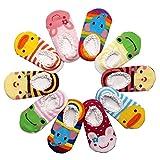 Happy Cherry 10 Paar Baby Kleinkind Jungen Mädchen Rutschfest Baumwolle Socken Set - für Baby 12 bis 36 Monate Cartoon Pattern (Random Color)