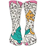 hdyefe Unisex Stockings White Fox Casual Crew Sports Socks