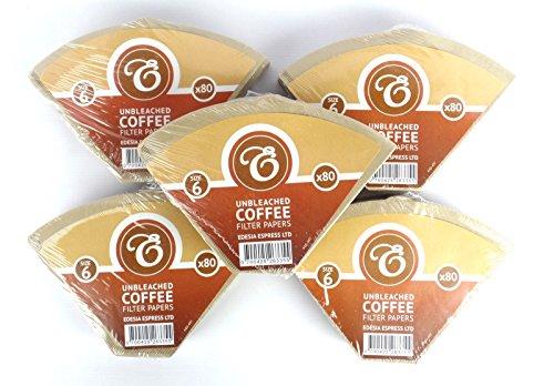 EDESIA ESPRESS - Kaffee-Filtertüten - ungebleicht - Größe 6 - 400 Stück
