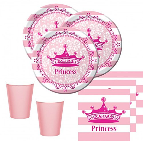 Kids Party World 48 Teile Royal Princess Set für 16 Prinzessinnen (Party Princess Royal)