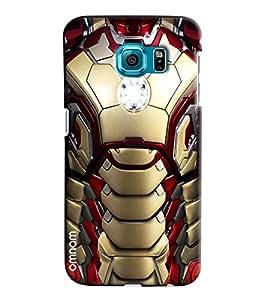 Omnam Iron Man Effect Printed Designer Back Case Samsung Galaxy S7