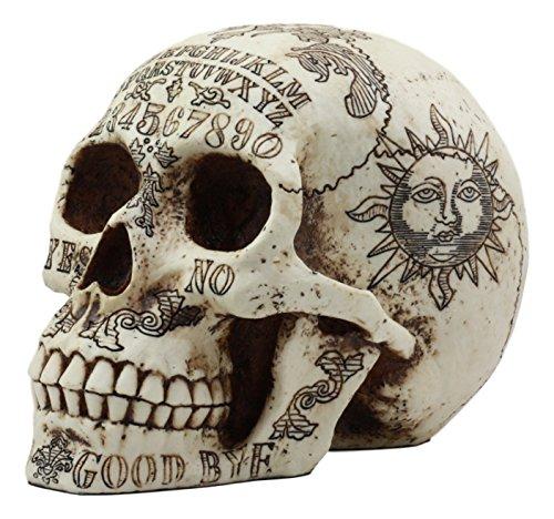 rit Medium Totenkopf Figur Supernatural Occultist Skulptur wie Home Deko Hexerei Medium Halloween Party Mittelpunkt (Sprechen Schädel Halloween)