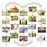 MOVEONSTEP Cornice Portafoto Multipla da Parete Cornice per Foto Wall Decor Collage 5 Corde Appese e 30 Clip -65 * 75CM