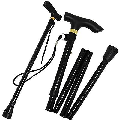 Folding Walking Stick For Women Portable For Travel - Strong Lightweight Non-Slip Aluminium