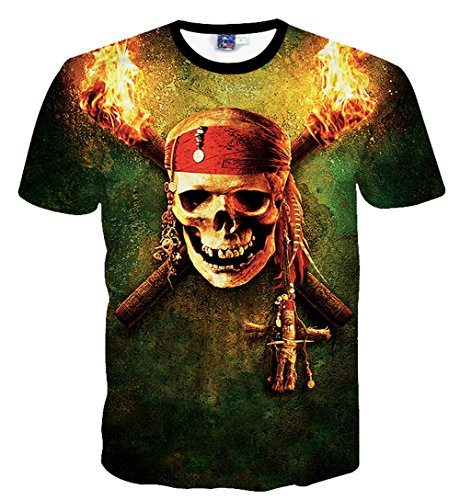 Yonbii  Herren T-Shirt Multicoloured-R22