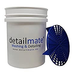 Wash Bucket Grit Guard Wash Bucket Set Includes Reinforced White Approx. 19 Litres, & Grit Guard Bucket Insert – Wash Bucket 5 Gal & Grit Guard Bucket Insert