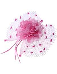 Mujer Fascinadores Velo Flor Cóctel Té Fiesta Sombreros Boda Tocados Headpieces