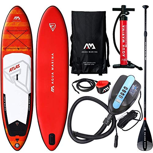 AQUA MARINA Monster SUP inflatable Stand Up Paddle Standard Alu Paddel (Gleiten Paddle Board)