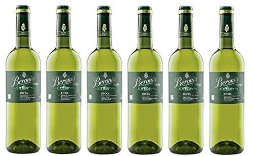 Beronia Viura D.O Rioja. Vino Blanco - 6 Botellas X 750 Ml - Total: 4500 Ml