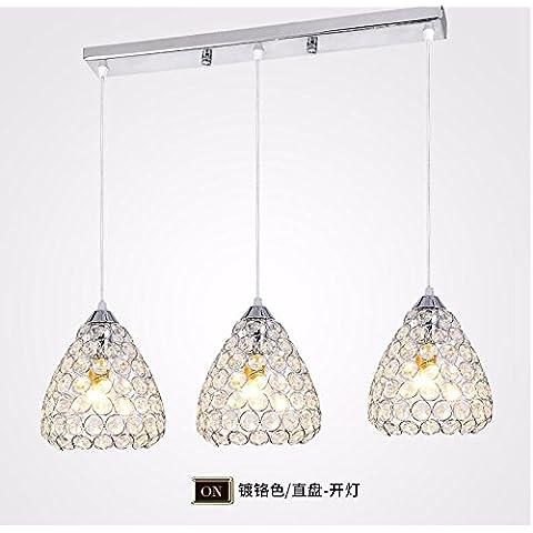 XHYYGZS Ristorante Ledthe è luce lampadari moderni e minimalisti lampadari di cristallo personalità Lounge tavoli da pranzo Sala da Pranzo lampade,Testa singola