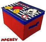 Suncity Mickey boîte Garde Jouets Pliable 40x 30x 25cm, Plusieurs, 40x 30x 25cm