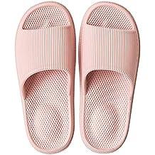 8e620141ba7 Decai Pantoufles Antidérapantes pour Femmes Hommes Été Chaussons Massages  Pantoufles Plage Sandales Piscine Claquette Bout Ouvert