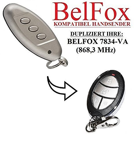 Preisvergleich Produktbild BELFOX 7834 - VA Kompatibel Handsender,  Ersatz sender,  868.3Mhz fixed code,  Klone