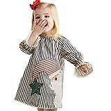 Kinder Kleidung Set, Sonnena Baby Mädchen Rüschen Schulterfrei Crop Tops T-Shirt + Bowknot Gestreift Rock Kurz Kleider Outfits Set Sommer Weich Babykleidung Set Kinderkleider (1 Jahre, Weiß1)