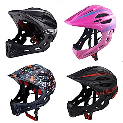 Euopat Children's Helmet,Kids Children Safety Road Bike Helmet With Taillights,Multi-function Sports Full Face Helmetfor Cycling,Skating Scooter,Outdoor Sports For Boys Girls by Euopat