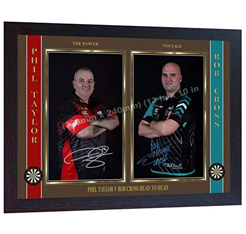 SGH SERVICES Phil Taylor The Power Rob Cross Autogramm Voltage Darts gerahmtes Poster