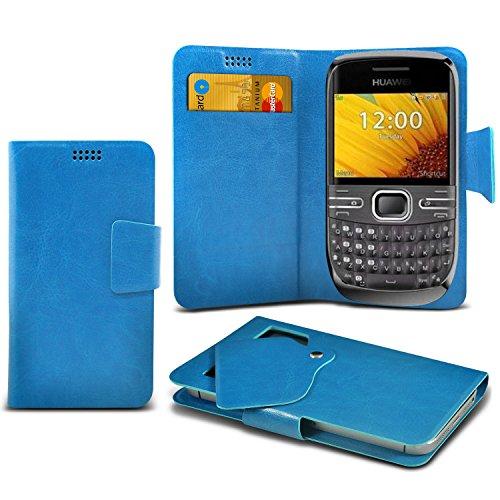 (Baby Blue) Huawei G6609 Schutzhülle Mega Dünn Faux Leder Saugnapf Tasche Case Cover hülle mit Kredit- /Debitkarte Steckplätze Aventus