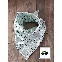 Halstuch - Dreieckstuch Baby mint Punkte aus Musselin