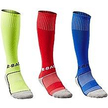 Calcetines de Fútbol para Niños Calcetas de Compresión Deportivas para chicos Medias Largas de Soccer de