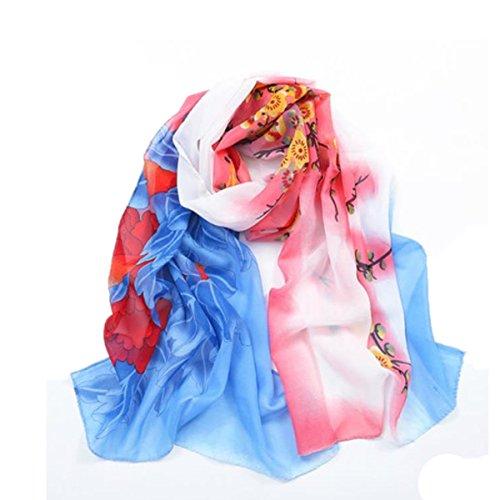 SHUNLIU Femmes Châle Fashion Broderie Vent Nationale Foulards En Coton Protection Solaire 7