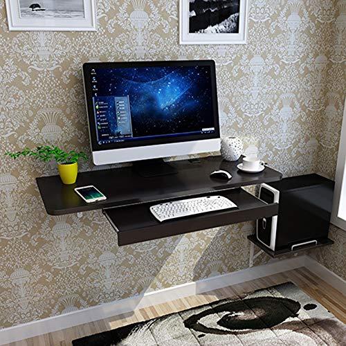 Bseack Tabelle Wandbehang Einfache Computer Schreibtisch, Mit Tastatur/Host Unterstützung Haushalt Kleine Wohnung Wandhalterung Computertisch, 6 Farben (Farbe : Schwarz) -